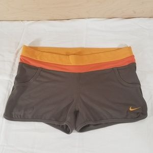 Nike Fit Dry Brown and Orange Women Shorts Size M